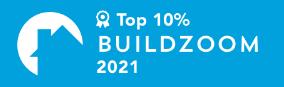 buildzoom award 2021- California Skyline Remodeling