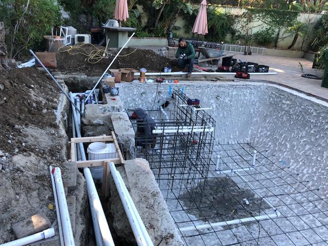 pool remodeling plumbing- California Skyline Remodeling